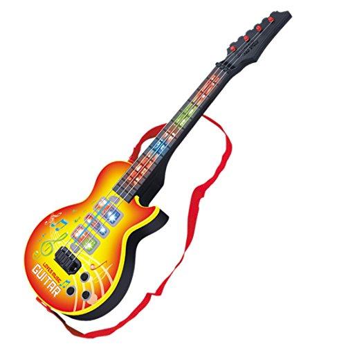 GST Instrumentos de Cuerda para niños Guitarra eléctrica, 4 Cuerdas Música Guitarra...