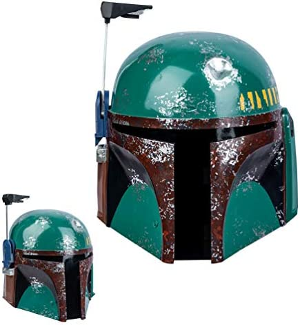 Cosplayrim Boba Fett Helmet Resin Cosplay Prop Deluxe Costume Gift for Adule Army Green Resin product image