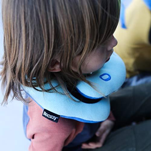 BCOZZY Kinder Nacken und Kinn stützendes Reisekissen - unterstützt den Kopf, Hals und das Kinn. Ein Patentiertes Produkt. Kindergröße, MARINEBLAU
