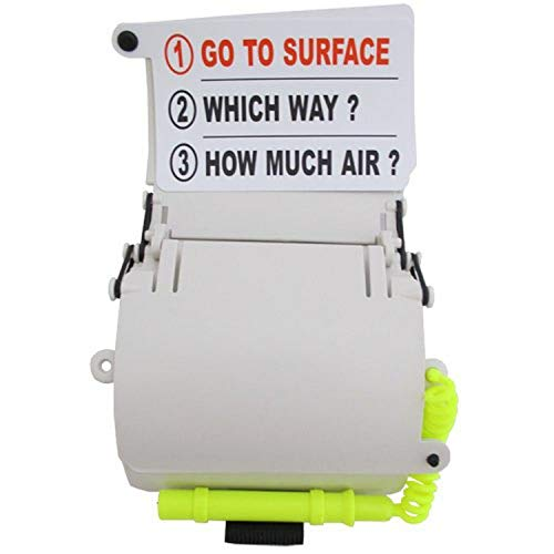 Scuba Choice Scuba Diving 3 Panels Wrist Writing Slate with Text and Pencil