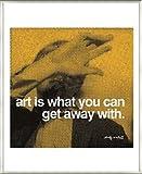 ポスター アンディ ウォーホル 芸術とは逃げ込むことができるものである 額装品 アルミ製ベーシックフレーム(ライトブロンズ)