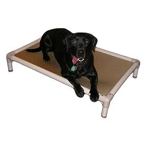 Kuranda Almond PVC Chewproof Dog Bed – XL (44×27) – Vinyl Weave – Birch Forest
