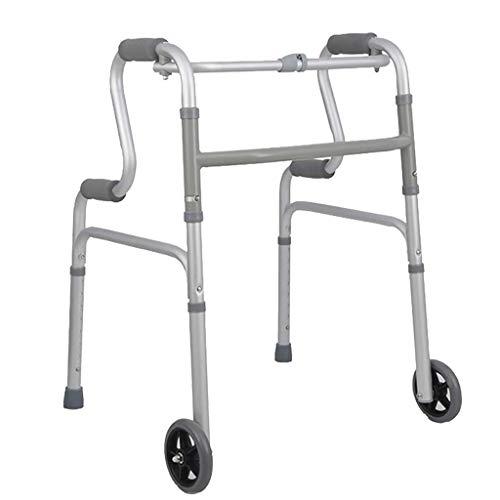 ZXL Lichtgewicht opvouwbare rollator van aluminium met afneembaar loopwiel voor oudere mensen