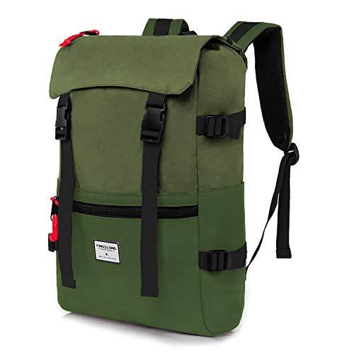 KINGSLONG 15,6 Zoll Laptop Rucksack, Wasserdicht und Langlebig Outdoor Rucksack...