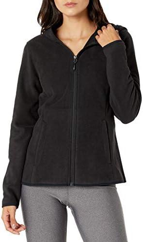 Amazon Essentials Women s Long Sleeve Hooded Full Zip Polar Fleece Jacket Black X Large product image