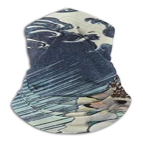 Custom made Cool Hedgehog Surf Polaina multifuncional de microfibra a prueba de polvo, pasamontañas, bandanas, calentador de cuello bufanda para deportes al aire libre en clima frío