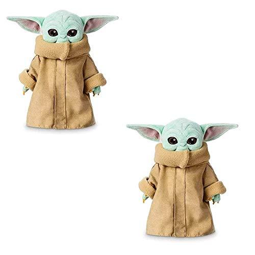 dbsdfvd 2Pc The Child Baby Yoda Regalos De Juguete De Peluche,Bebe Yoda Star Wars,Star Wars Bebé Yoda Stuffed Master Doll (12inch)