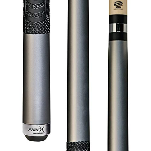 PureX Technology Pool Cue with Low Deflection Shaft Kamui Black Tip, Mz Multi-Zone Grip, Adjustable weight, & Turbo Lock Quick Release Joint Model: HXTC14