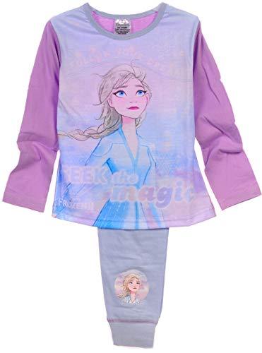 Anna Elsa Pyjama Kinder Schlafanzug Frozen 2 Eiskönigin 104 110 116 122 128 140 (5-6 Jahre)