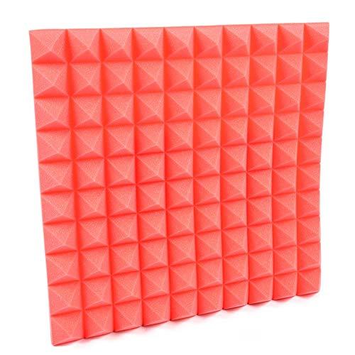 lembrd schuimrubber isolatie akoestiek piramides akoestisch schuim geluidsisolatie behang voor woonkamer slaapkamer, 50 x 50 cm