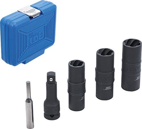 BGS 7467   Kraft-Spezial-Steckschlüssel-Wendeeinssatz-Satz   Sechskant & Schraubendreher 17 - 19 - 21 mm   12,5 mm (1/2