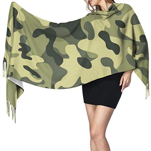 Moda para mujer Chal largo Pollos blancos Bufanda de cachemira Invierno Cálido Bufanda grande Caja de regalo