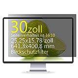 Xianan 30' Blickschutzfilter für 16:10 Monitor (25,25x15,78 Zoll) Displayfilter PC Bildschirmschutz Sichtschutzfolie