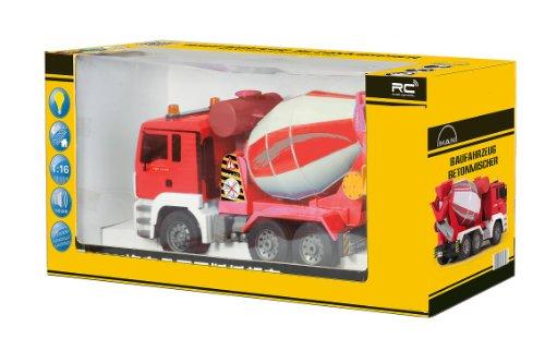 RC Auto kaufen Baufahrzeug Bild 6: BUSDUGA RC MAN Betonmischer 27MHz ferngesteuert & drehende Mischtrommel mit Entladefunktion - Motorsound, Hupe, Licht INKL. BATTERIEN - komplett Set*