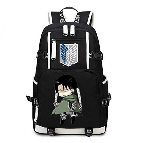 Bolsa de lona de gran capacidad y mochila de PU para portátil de la marca Attack on Titan/Shingeki no Kyojin Anime, estilo informal, para la universidad, la escuela, la escuela
