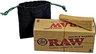 RAW Double Barrel - Soporte doble para cigarrillos (madera)