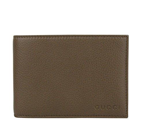Gucci Herren Geldbörse Bifold Braun Leder mit Logo und Münzfach 292534 2527