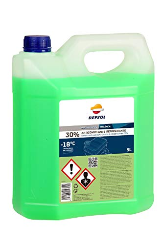 Repsol RP717U92 Anticongelante Orgánico 30%, Verde, 5 L