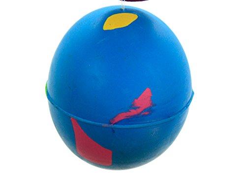 4 x palle per cani in gomma dura – Play n Shoot – rosso, verde, giallo e blu