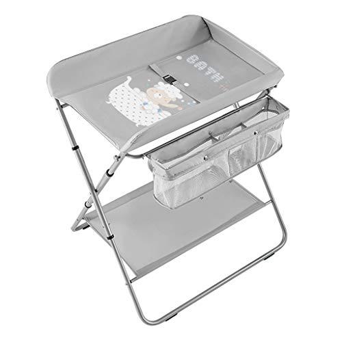 Tragbarer Wickeltisch für Babys, Klappbare Neugeborenen Kommode Massagegerät für Kleinkinderzimmer 0-2 Jahre Alt (Color : Gray)