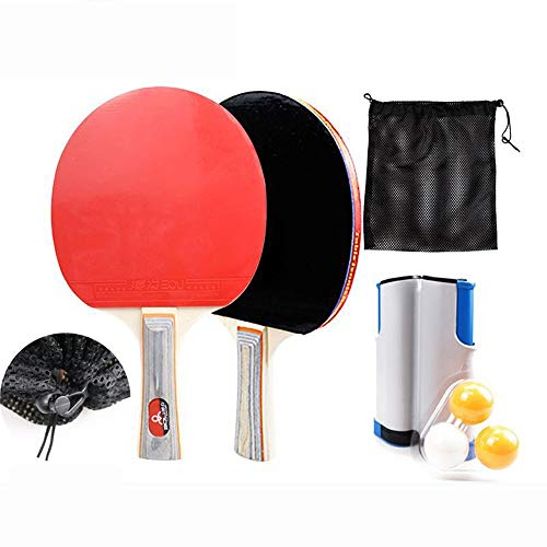 Why Choose LJFZDB Pingpong Racket Set Beginner Training Table Tennis Racket Equipped with Retractabl...