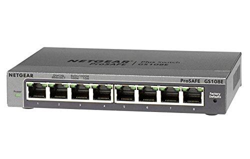 NETGEAR スイッチングハブ ギガビット8ポート/金属シャーシ/VLAN QoS IGMP/外部電源/ファンレス静音設計/省...