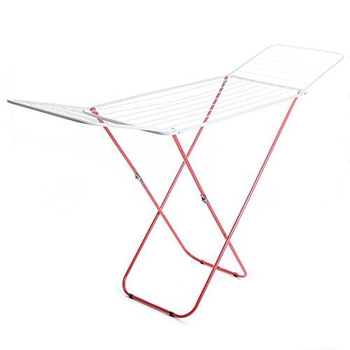 rg-vertrieb Wäscheständer Flügelwäschetrockner rot Wäschetrockner Wäsche Trocknen 18m Länge 184cm x 50cm x 102cm