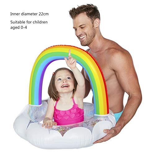 Piscines gonflables Flotteur Pataugeoires Airbeds Aide Swim Caoutchouc Gonflable Ride on for Les Enfants Et Adultes (Color : Blanc)