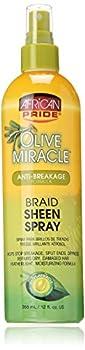 African Pride Olive Miracle Braid Sheen Spray 12 Oz  438125