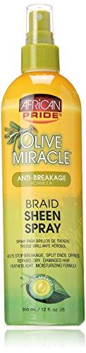 African Pride Olive Miracle Braid Sheen Spray 12 Oz (438125)