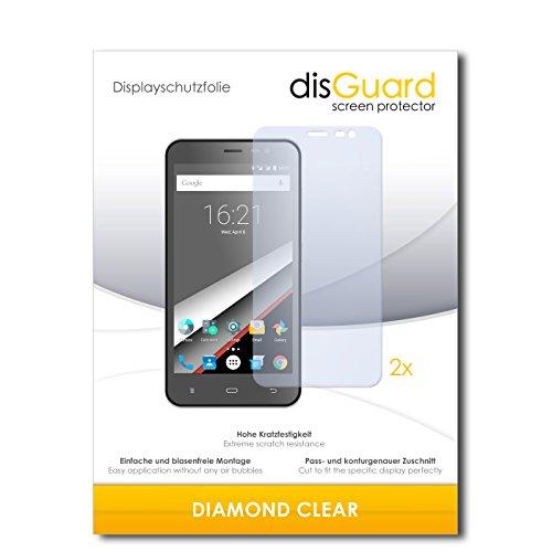 disGuard 2 x Bildschirmschutzfolie Phicomm Clue L Schutzfolie Folie DiamondClear unsichtbar