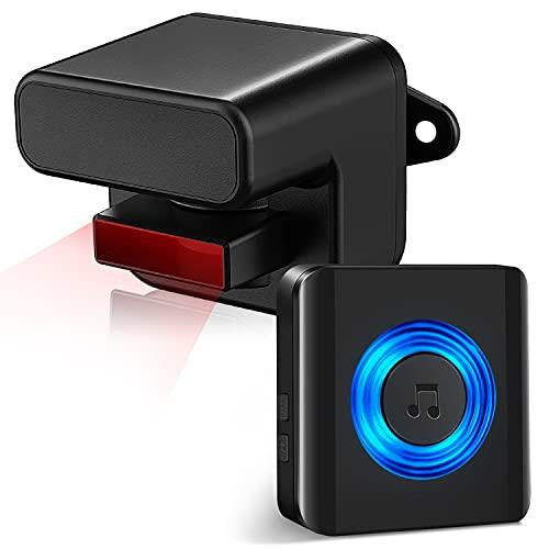 Sensore di allarme di ingresso senza fili, satellitare, con portata wireless di 150 m, sensore di movimento, allarme, sensore di movimento impermeabile, sensore di movimento e rilevatore di movimento