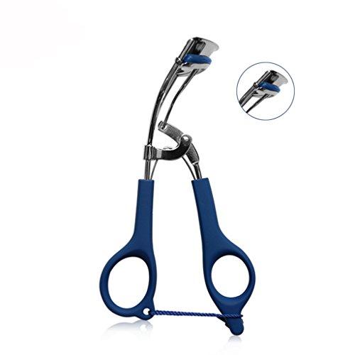 Recourbe-cils Acier Inoxydable en Acier Inoxydable Curl Cils Stéréotype Maquillage Outil Clip Maquillage Envoyer Tampon de Remplacement (Color : Blue)