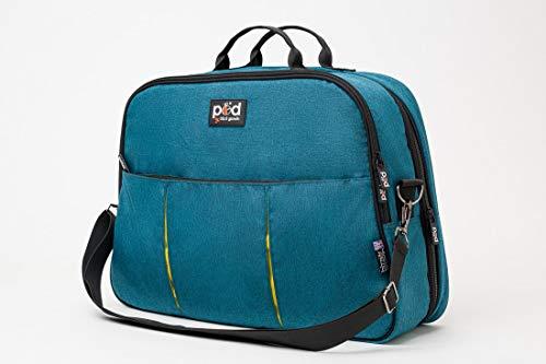 Bizzi Growin Pod 2 in 1 Travel Crib Changing Bag - Changing Bag That Converts in to a Baby Travel Cot - Teal