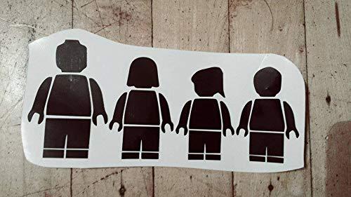 Free Brand Lego Familia coche calcomanía figura familia decorativa de madera letrero para colgar arte en la pared placa vintage pared personalizada placa de madera