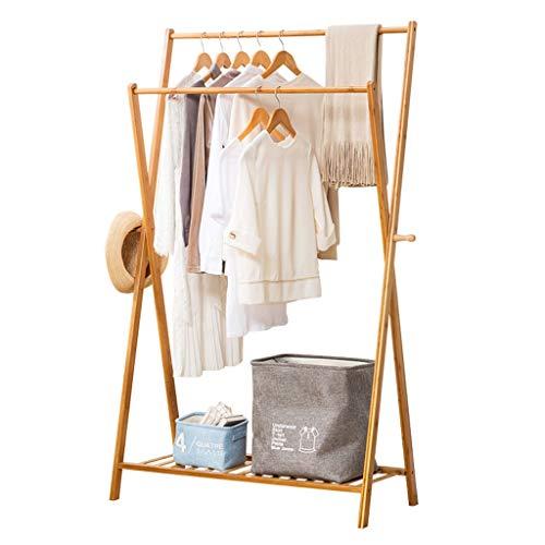 SANYAXIAODONG8 Armario Combinado Bamboo Hanger Portátil, Mediano, pequeño, Colgador, Caja de Almacenamiento y diseño de habitación (Color de Registro) Armarios Combinados para Dormitorio (Size : S)