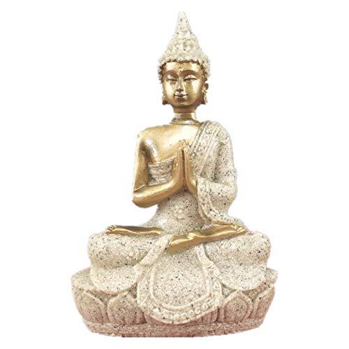 Vilead 3.5' Mini Dhyani Mudra Praying Sitting Buddha Statue Hindu Fengshui Figurine for Home Decor