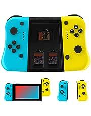 JAMSWALL Mando para Nintendo Switch, Mando inalámbrico para Nintendo Switch Bluetooth Wireless Controller Controlador de Reemplazo Izquierdo y Derecho para Nintendo Switch/Switch Lite Joy con
