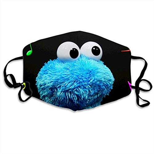 Mundschutz Cookie Monster Hip Hop Face Cover, Roleplaying Japanese Anime Cartoon Style Face Cover, Washable and Reusable Mouth Cover