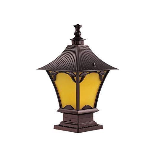 SPNEC Lantern Outdoor Classic Decor Antique Glass,Garden Lantern Indoor and Outdoor Light