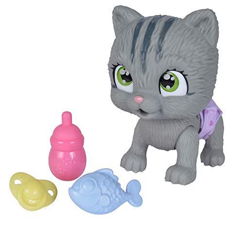 Simba 105953051 Pamper Petz Katze, Tierbaby mit Trink und Nässfunktion, mit magischer Pfote, mit Überraschung, ab 3 Jahren, 15cm
