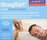 Lamberts Strongstart for Men Omega3 Pack, Blanco, 60 Unidades