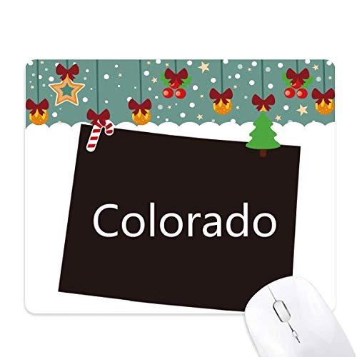 colorado amérique États - unis carte silhouette tapis de souris en jeu - office mat noël