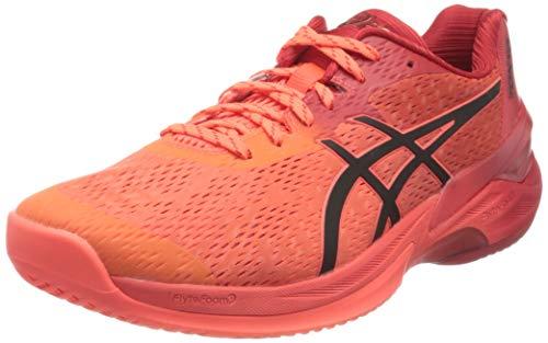 ASICS 1051A055-701_44,5, Zapatillas de Voleibol Hombre, Rouge Vif Noir, 44.5 EU