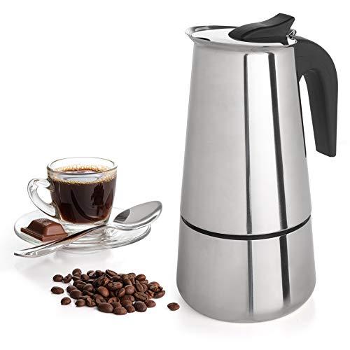 Mixpresso Coffee Maker Stovetop Espresso Coffee Maker, Moka Coffee Pot with Coffee Percolator Design, Stainless Steel stovetop espresso maker, Italian Coffee Maker (9 Cup)