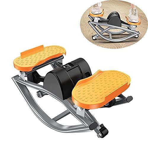 HMBB Plataformas Paso Entrenador elíptica y la Bicicleta estática Doble Trainer 2 En 1 Cardio Home Office Ejercicios de Fitness máquina de Pasos Inicio Máquina Mujer Cubierta pequeña Mini Bicicleta