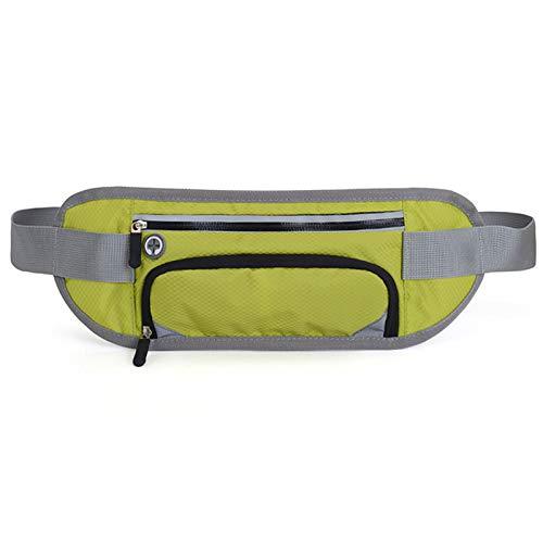 UYTTlhk Cinturón de correr, bolso de hervidor oculto, bolso de mujeres, mujeres y hombres Capacidad grande A prueba de agua Ajustable Bolsa de cintura reflexiva, corriendo y gimnasio al aire libre Via