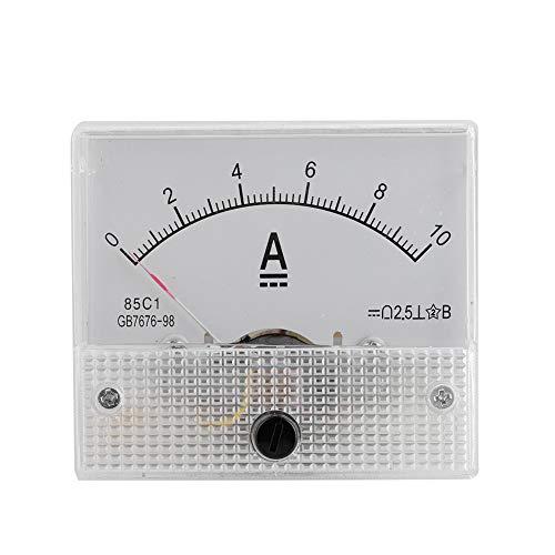 VBESTLIFE Strom Voltmeter Spannung 2.5 Genauigkeit Spannung Analog Voltmeter Panel(Teststrombereich: DC 0-10A)