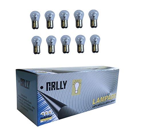 Melchioni 322199781 Lampe 24 V 21/5 W BAY15d, Lot de 10