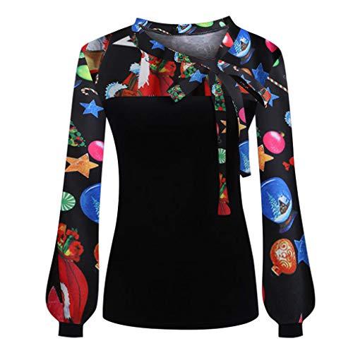 NPRADLA 2020 Damen Bluse Langarm Elegant Herbst Frauen Tie Bow Ausschnitt Gestreift Splicing Hemd Tops Blazer
